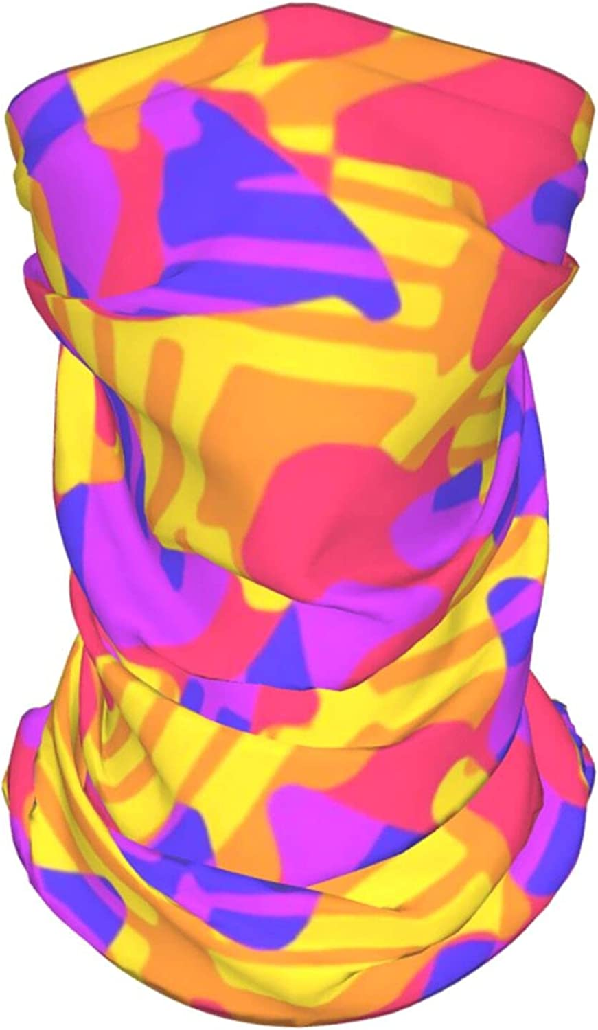 Funky Style Colorful2 Neck Gaiter Multipurpose Headwear Ice Silk Mask Scarf Summer Cool Breathable Outdoor Sport 4 Pcs