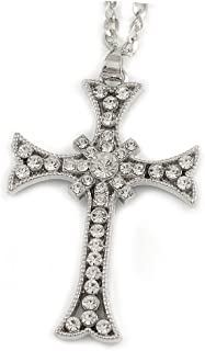 **BEST PRICE** Large  Solid Cross Charm Pendant .925 STERLING SILVER  #2