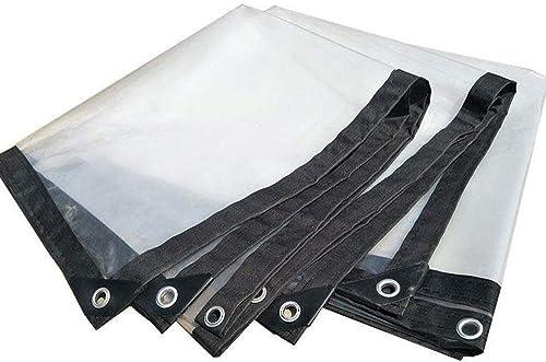 FSBYB Bache transparenteBache Anti-Pluie, Toile imperméable Transparente, Toile Anti-Pluie, bache, Feuille Plastique épaisse,4mX8m