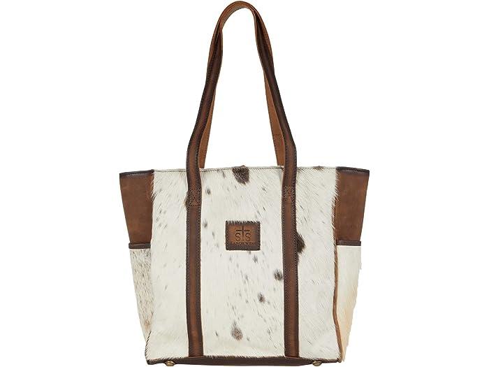 STS Ranchwear Cowhide Heritage Tote Bag