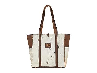STS Ranchwear Cowhide Heritage Tote (Cowhide/Tornado Brown) Handbags