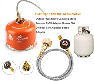 Fishlor Camping Gas kann Konverter Outdoor Camping Herd verwenden Haushalt LPG-Flasche Gas kann Conversion Head Adapter