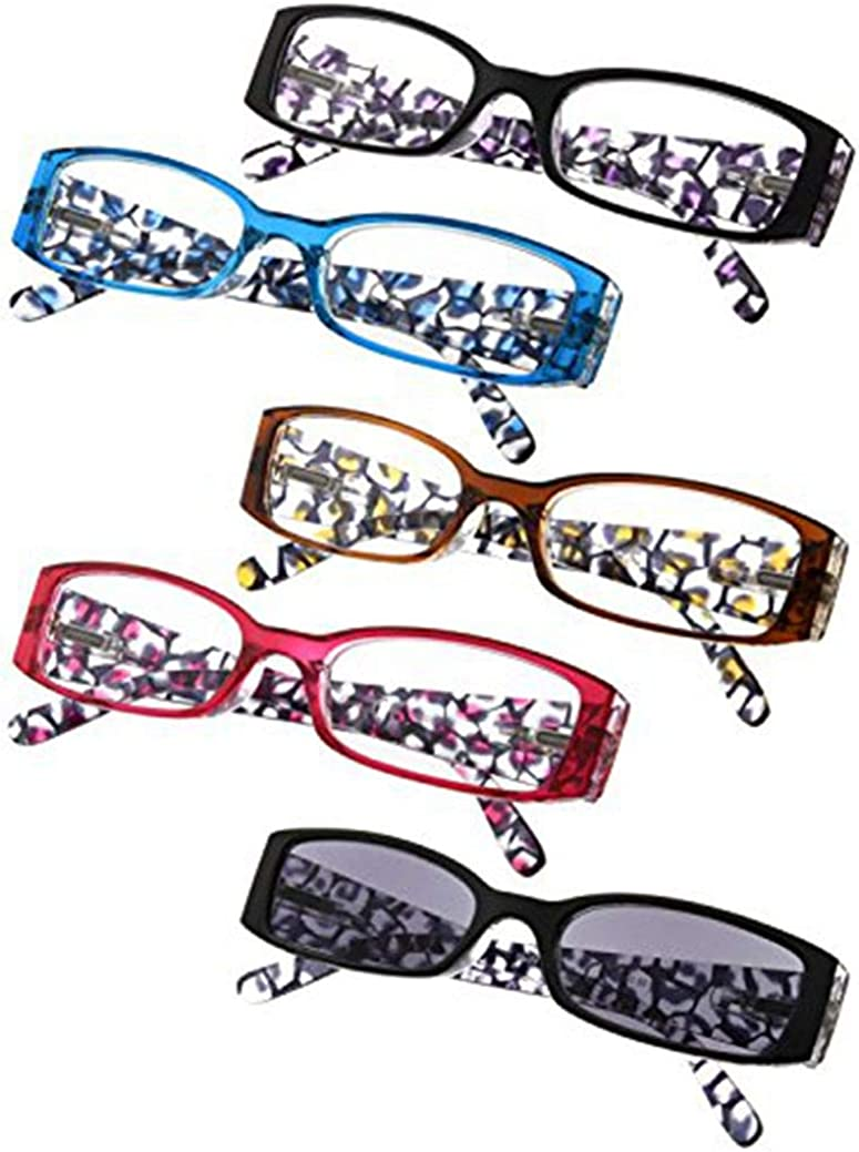 Popular standard Choice 5-Pack Ladies Floral Design Temples Reading In Women for Glasses