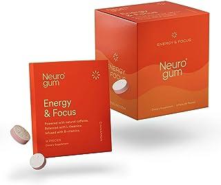 Neuro Gum Nootropic Cinnamon Flavor Energy Gum | Caffeine + L-theanine + B Vitamins | Sugar Free + Gluten Free + Non GMO +...