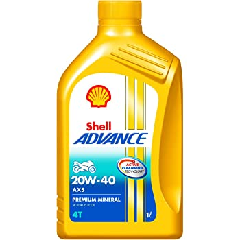 Shell Advance AX5 550031351 20W-40 API SL Premium Mineral Motorbike Engine Oil (1 L)