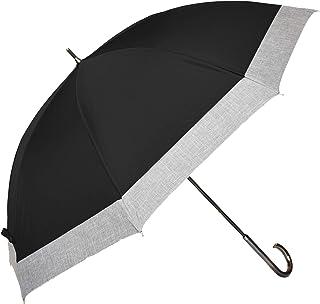 100%完全遮光 99%ではダメなんです! 【Rose Blanc】 日傘 晴雨兼用 UVカット 1級遮光 撥水 ブランド おしゃれ レディース かわいい 母の日 グランドサイズ 65cm コンビ ダンガリー アクリル手元 8cb-d