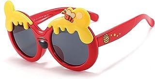 Pteng - PersonalityKids Gafas de sol polarizadas deportivas UV400 Gafas de protección Marco flexible de silicona Gafas de sol de oso de dibujos animados para niños niñas de 3 a 12 años