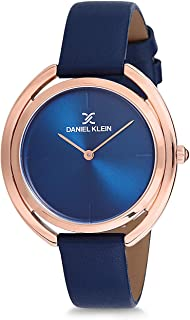 Daniel Klein Womens Quartz Watch, Analog Display and Leather Strap - DK12197-1