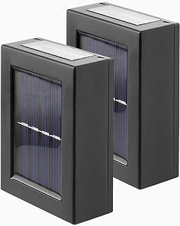 pedkit Candeeiro de parede solar exterior à prova de água conduzido com luz iluminada quintal escada de jardim lâmpada de ...