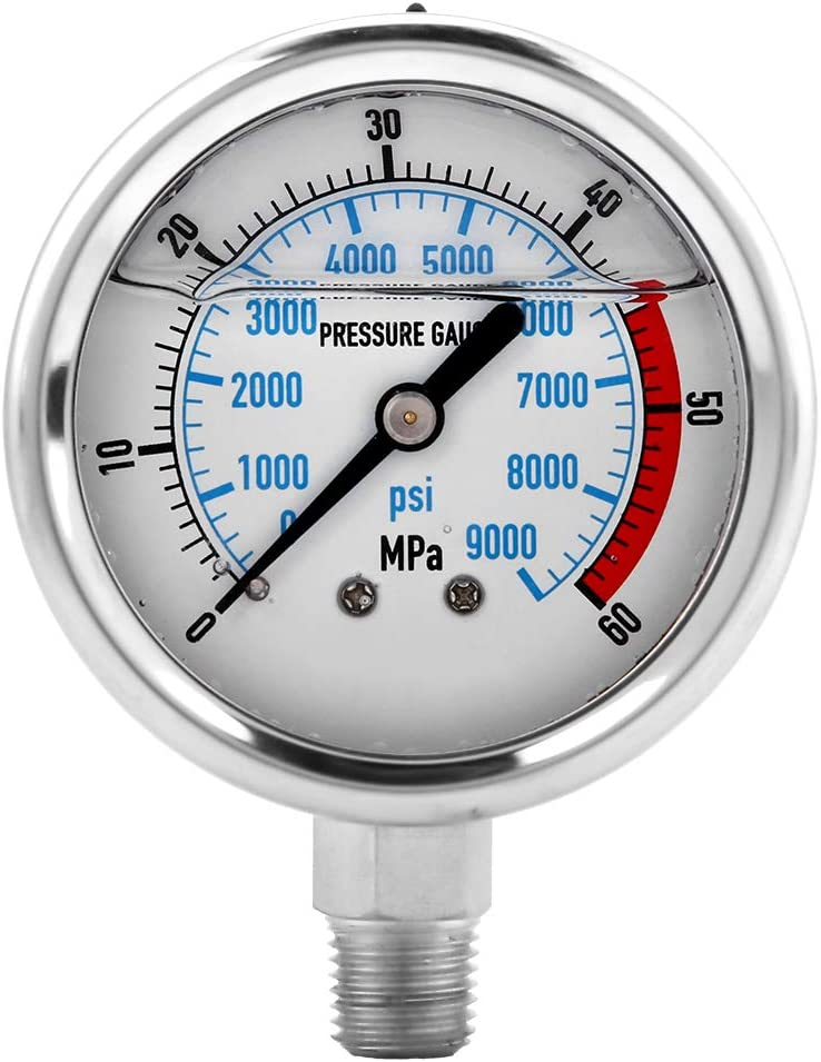 Hydraulic Free Shipping New Pressure Translated Gauge Stainle