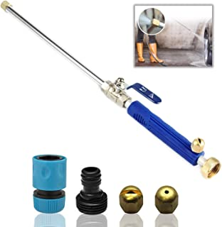 DBR Tech Hydro Jet High Pressure Power Washer Wand for Car Washing or Garden Cleaning, Heavy Duty Metal Watering Sprayer with Universal Hose End, Hydrojet Water Power Nozzle (Navy)