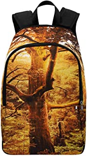 InterestPrint Old Spruce Tree in Foreground and Oak Tree in School College Backpack