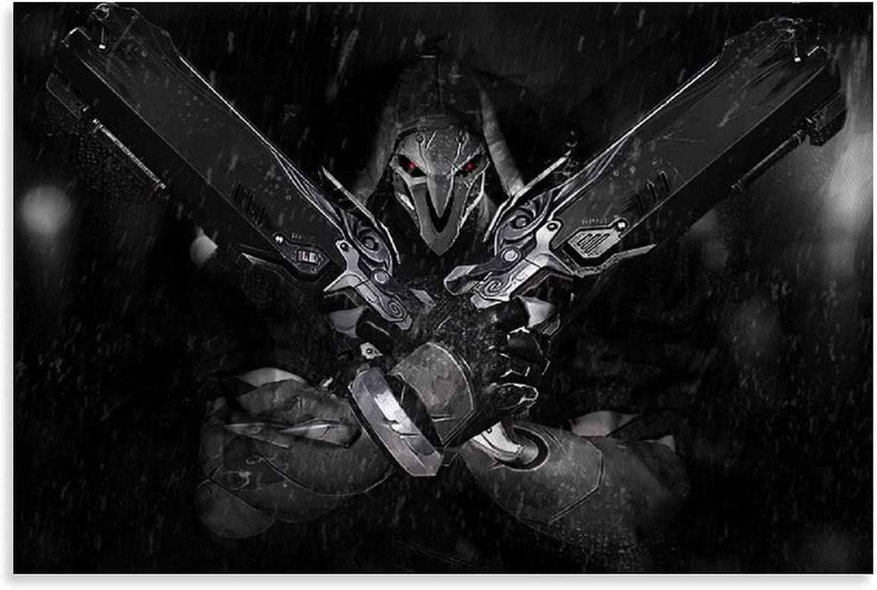 QUANDO Game Poster Overwatch Figure Aesthet New Free Shipping Reaper for Room Year-end annual account Rain