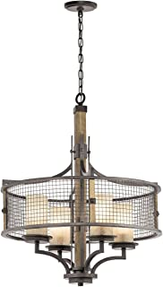 Kichler 43582AVI Four Light Chandelier