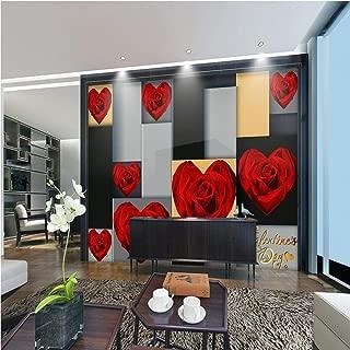 Wanghan 3D Wallpaper Photo Custom Lobby Studio Wallpaper Hd Romantic Roses Flower Tv Backdrop Wall Bedroom Wallpaper Mural-300Cmx210Cm