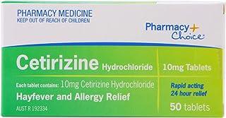 Pharmacy Choice Cetirizine Hayfever & Allergy Relief 50 Tablets