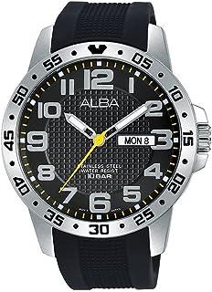 ساعة رجالية من ألبا ، انالوج بعقارب قماش - AT2035X1
