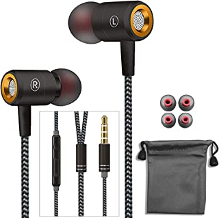 Earphones,in-Ear Earbuds Stereo Headphones High Definition,Wired Earphones with Microphone Mic Stereo and Volume Control W...