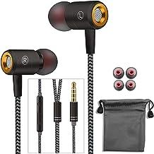 Auriculares in-ear estéreo de alta definición, auriculares con cable con micrófono estéreo y control de volumen, resistente al agua, con cable de metal para Samsung, reproductores MP3