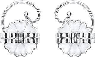 14K White Gold Pierced Ear Lobe Earring backs Lifts Support Post/Stud
