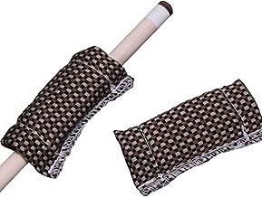Ogrmar 2Pcs Billiard Cue Shaft Slicker Cloth Snooker Towel Burnisher Cue Shaft Cleaner