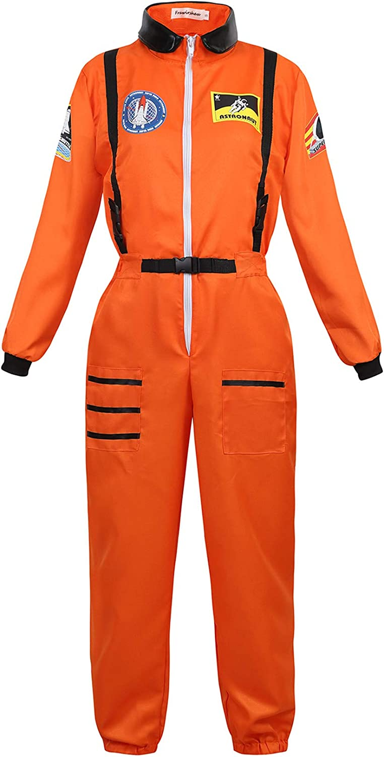 Famajia Womens Astronaut Costume Spacewoman Jacksonville Mall Cospl Fancy Jumpsuit Max 73% OFF