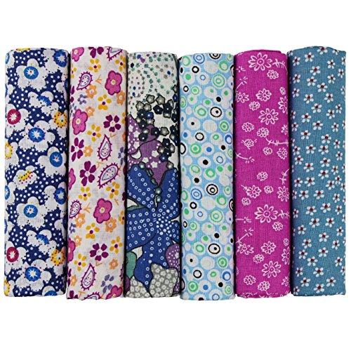 6 Stueck 50 x 50cm Stoffpakete Patchwork Stoffe Baumwolle tuch DIY Handgefertigte Nähen Quilten Stoff Baumwollgewebe Verschiedene Designs (U-B902)
