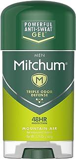 Mitchum Gel Anti-Perspirant and Deodorant for Men, Powerful Anti-Sweat Defense, Mountain Air 2.25 Oz (Pack of 6)