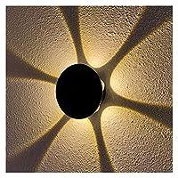 壁灯 モダン 導いた壁ライトシンプルなスパイラルウォールランプ天井LED屋内ランプ3W 4W 8Wにとって KTV.寝室の廊下リビングルーム (Color Temperature : Warm White, Lampshade Color : 6W)