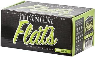 HookahJohn Titanium Coconut Hookah Coals - 108 Count Flats