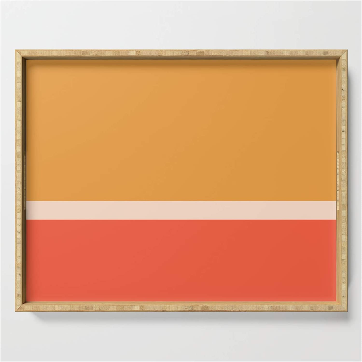 Golden Summer Max 90% OFF Color Block by Colour Poems 2 - Ii Outstanding Serving Tray on