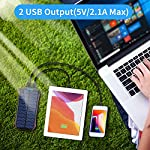 Solar Power Bank 16000mAh, Solar Portable Charger【2020 Newest】with 2 USB Outputs & Type-C Input IP65 Waterproof 15 LED…