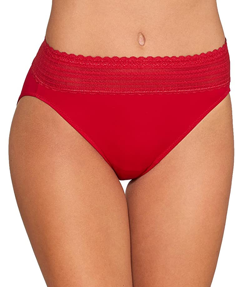 Warner's Women's No Pinches Lace Hi-Cut Brief Panty