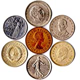 7 Coins from 7 Different Countries Big Size Coins from Europe