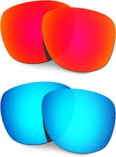 Hkuco Reinforce Replacement Lenses For Oakley Trillbe X Sunglasses Red/Blue Polarized