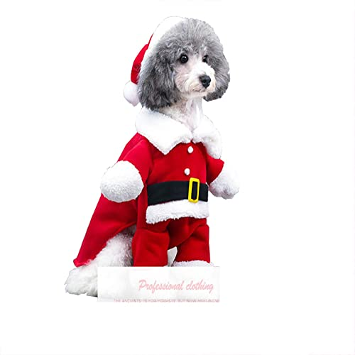 popular Pet Dog new arrival Winter Clothes Christmas Santa Dog Costume, Dog Sweater for Small Dogs & Puppies, Warm Jacket Coat Windproof Christmas Santa Suit with online sale Hat Christmas Pet Clothes (M) sale