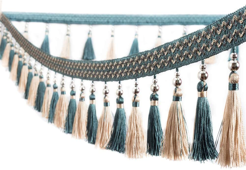 Trycooling 12.5 Yard Multicolor Beaded Fring Hanging Manufacturer regenerated product Ball Tassel shop