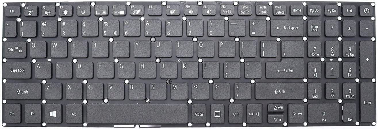 New Replacement Keyboard for Acer Aspire 3 A315-21 A315-31 A315-32 A315-33 A315-41 A315-51 A315-53 A315-54 Aspire 5 A515-51 A515-52 A715-71 A715-72G Laptop Without Backlit