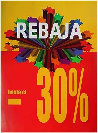 2 unidades de cartel rebajas vertical 30%: Amazon.es: Hogar