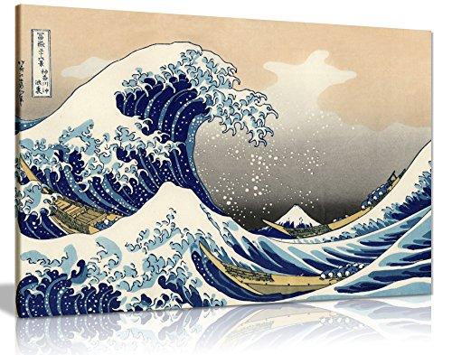 Katsushika Hokusai The Great Wave off Kanagawa Canvas Art Print Poster 30X 20 Inches by Panther Print