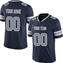 Navy Custom Football Jerseys for Men Women Youth Embroidered Team Name and Your Numbers S-8XL Design Your Own