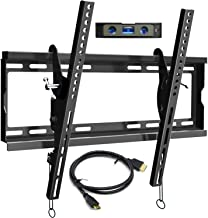 BLUE STONE TV Wall Mount Bracket Tilt Low Profile for Most 32-60 inch Flat Screen, LED, 4K TVs, with Max VESA 400x400mm Holds up to 125lbs and Fits 8
