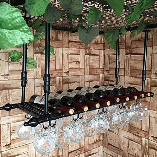 Unknow Botellero de Estilo Europeo Colgador de Taza de café Colgador de Oreja Colgador Creativo Vaso de Cerveza Jarra de Vino Boca Abajo para Cocina Bar Pub Restaurante (Tamaño: 80 cm)