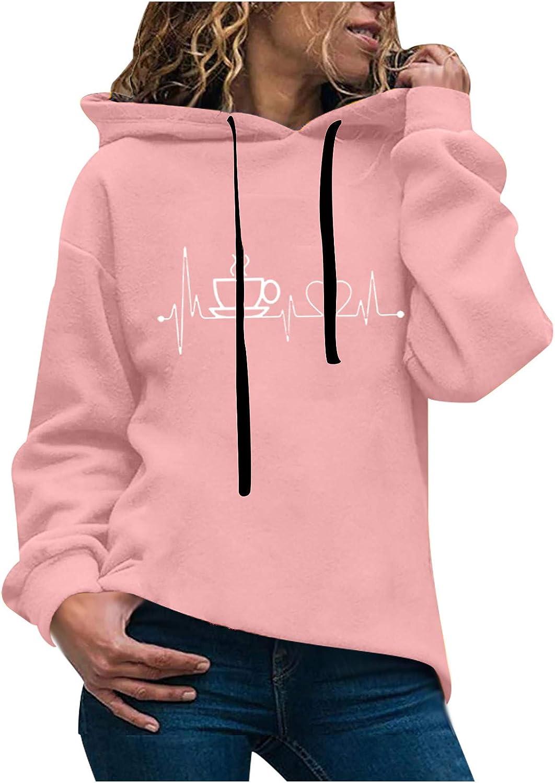 ZuzongYr 2021 Nouveau Taille Plus Pull Sweat /à Capuche Chic Femme Sweat /à Capuche Longue Hoodie Casual Manches Longues Pull Chic Ample Haut Automne Hiver Sweat-Shirt Pull Coeur damour avec Chapeau