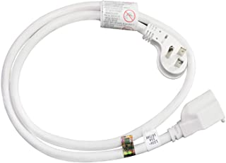 FIRMERST 1875W 3 Feet Extension Cord Low Profile Flat Plug 15A White