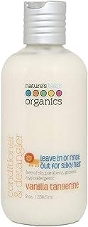 Nature's Baby Organics Natural Hair Conditioner and Detangler for Kids, Vanilla Tangerine, White, 236.5ml