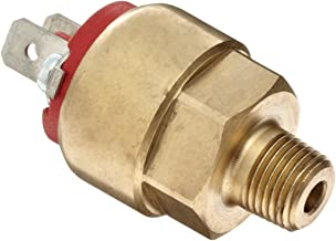 NOSHOK 100 Series Brass Miniature Low Pressure Mechanical Switch, 1 Normally Open, - 2 A, 1/8