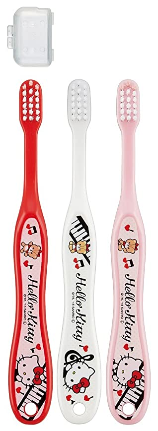 市長相談する強大なSKATER 歯ブラシ 園児用 (3-5才) 毛の硬さ普通 3本組 ハローキティ TB5T