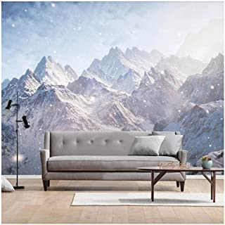 xbwy Custom 3D Wallpaper Modern Hand-Painted Snow Mountain Landscape Wall Painting Living Room Bedroom Background-200X140Cm