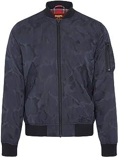 merc Mens London Camo Bomber Jacket Consett - Navy Blue